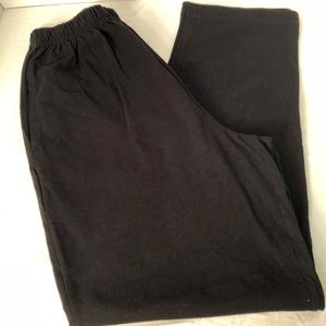 M Mac Black Cotton Stretchy Pants